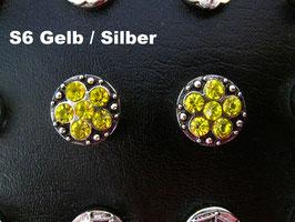 1 Stück Snap Button mit Strass-Steinen, 12 mm, Modell S6