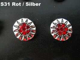 1 Stück Snap Button mit Strass-Steinen, 12 mm, Modell S31