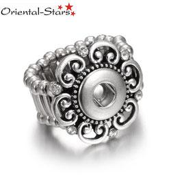 """Ring """"White Flower"""" für 12 mm Snap Buttons"""