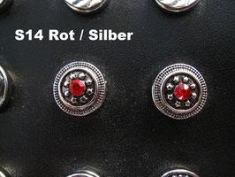 1 Stück Snap Button mit Strass-Steinen, 12 mm, Modell S14