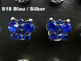 1 Stück Snap Button mit Strass-Steinen, 12 mm, Modell S18