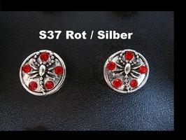 1 Stück Snap Button mit Strass-Steinen, 12 mm, Modell S37