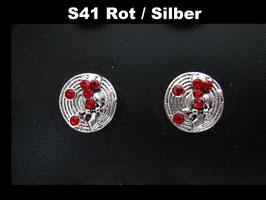 1 Stück Snap Button mit Strass-Steinen, 12 mm, Modell S41