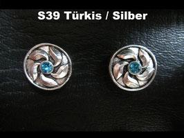 1 Stück Snap Button mit Strass-Steinen, 12 mm, Modell S39