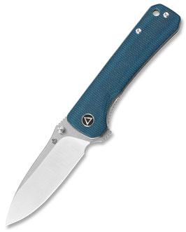 QSP Hawk - Sandvik Stahl, Leinen Micarta, blau