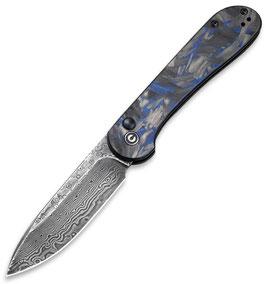 Civivi C2103DS-1 Button Lock Elementum, Damascus blau