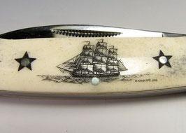 RR Canoe mit Scrimshaw-Gravur #DK1