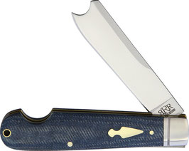 RRR001 One Arm Razor, D2 Stahl, Denim Micarta