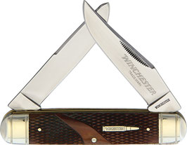 Winchester Moose Knife - Brown Checkered Bone
