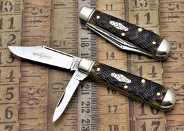 Northfield Un-X-LD #14 - Lick Creek Boy's Knife - Antique Yelow Jigged Bone