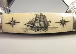 RR Canoe mit Scrimshaw Gravur #DK2