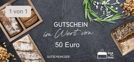 Geschenk Gutschein 50€