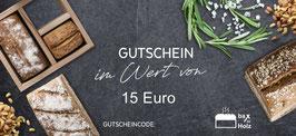 Geschenk Gutschein 15€
