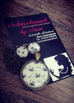 """Schmuck-Set """"Schwalben"""""""