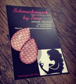 """Ohrstecker """"Rosa Weiß gepunktet"""""""