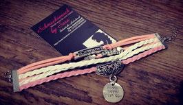 "Wickelarmband pink-weiß ""Dream"""