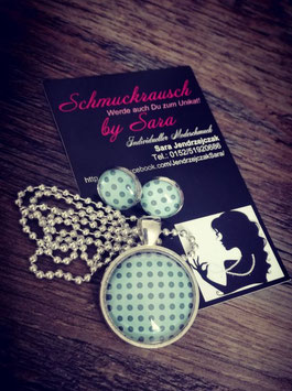 """Schmuck-Set """"Vintage Blau"""""""