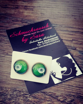 "Ohrstecker ""Pusteblume grün"""