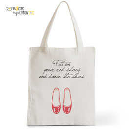 Tote Bag Let's Dance - Red Shoes
