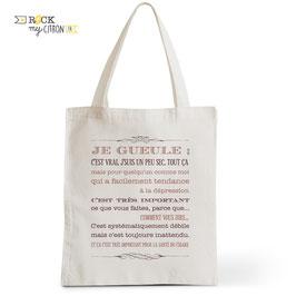 Tote Bag Je Gueule