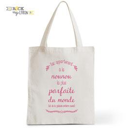 Tote Bag Nounou Parfaite
