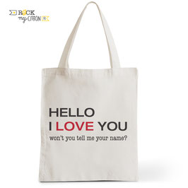 Tote Bag Hello I Lovce You