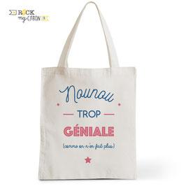 Tote Bag Nounou Trop Géniale