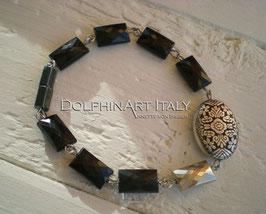 Bracelet *MYSTERIOUS BLACK FLOWER*