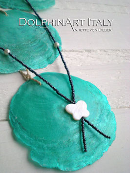 Necklace *MARBLED WHITE BUTTERFLY*