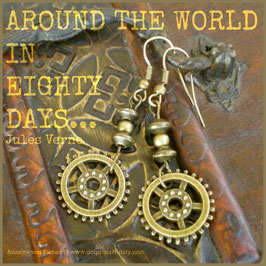 Earrings *AROUND THE WORLD IN EIGHTY DAYS*