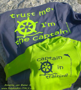 T-SHIRT *TRUST ME, I'M THE CAPTAIN* OR SHIRT FOR KIDS *CAPTAIN IN TRAINING*