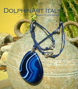 Necklace *BLUE AGATE WAVE*