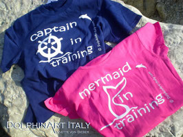 T-SHIRT FOR KIDS *MERMAID IN TRAINING* OR *CAPTAIN IN TRAINING*