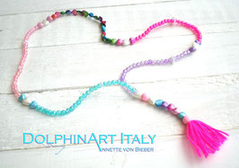 Necklace *PINK TASSEL*