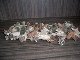Tischdeko 4 TL  Natur mit Holz