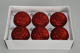 Weihnachtskugel 491305 rot D8