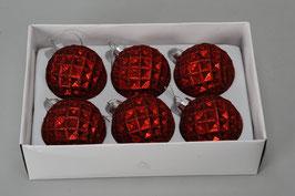 Weihnachtskugel 491305 rot D6