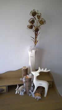 Nadelkissen - Protea gold/braun