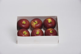 Apfel 6 cm dunkelrot