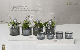 Tischlicht Mantova Rauchglas 4er