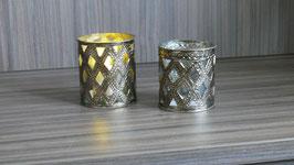 Windlicht metall-glas Antik-SSV
