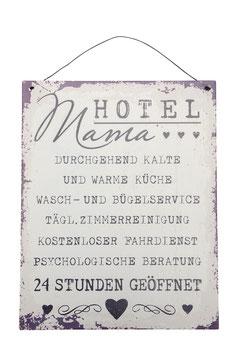 Metall Schild Hotel Mama...