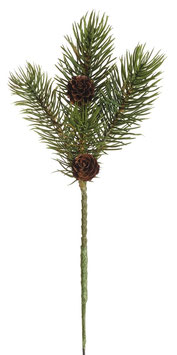 Tannenzweig mit Zapfen    23 cm