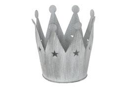 Krone mit Sternen grau H17