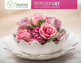 Schale Seerose Lily glasiert