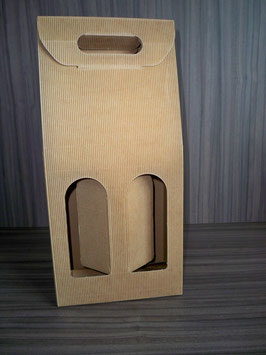 2er Flaschenverpackung natur 259