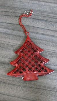 Hänger Metall rot Baum H154