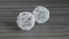 Spiraldrahtbälle 5 cm silber