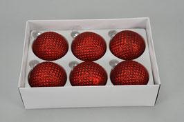 Weihnachtskugel 491303 rot D8