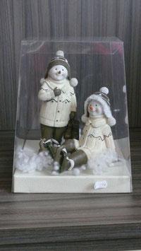 Weihnachtspräsent Schneemann weiss - P11